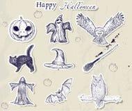 Jogo de etiquetas de Halloween. Imagem de Stock