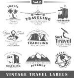 Jogo de etiquetas do curso do vintage Imagem de Stock Royalty Free