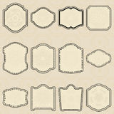 Jogo de etiquetas do elemento-vintage do projeto. Imagem de Stock