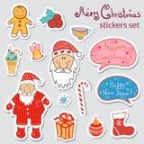 Jogo de etiquetas do Natal Imagens de Stock