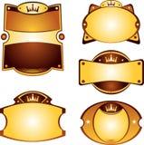 Jogo de etiquetas do ouro Imagens de Stock Royalty Free