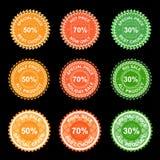Jogo de etiquetas do vetor Fotografia de Stock