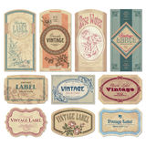 Jogo de etiquetas do vintage () Fotos de Stock