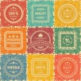 Jogo de etiquetas do vintage Foto de Stock
