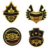 Jogo de etiquetas douradas Imagem de Stock Royalty Free