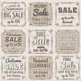 Jogo de etiquetas e de bandeiras da oferta da venda especial Imagem de Stock Royalty Free
