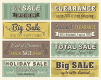 Jogo de etiquetas e de bandeiras da oferta da venda especial Foto de Stock