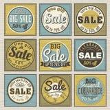 Jogo de etiquetas e de bandeiras da oferta da venda especial Fotografia de Stock Royalty Free
