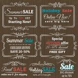Jogo de etiquetas e de bandeiras da oferta da venda especial Imagem de Stock