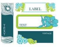 Jogo de etiquetas florais Imagens de Stock