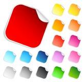 Jogo de etiquetas quadradas Ilustração Stock