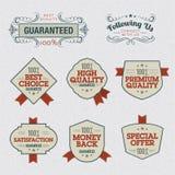 Jogo de etiquetas superiores da qualidade ilustração royalty free