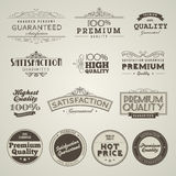 Jogo de etiquetas superiores denominadas vintage da qualidade Imagem de Stock Royalty Free