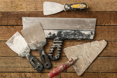 Jogo de facas de massa de vidraceiro fotos de stock