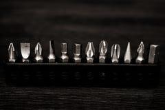 jogo de ferramentas da chave de fenda Jogo de reparação na casa, fotos de stock royalty free