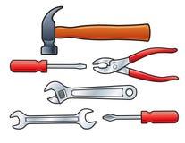 Jogo de ferramentas da mão Fotografia de Stock Royalty Free