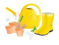Jogo de ferramentas de jardim Imagem de Stock Royalty Free