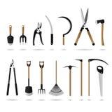 Jogo de ferramentas de jardinagem ilustração royalty free