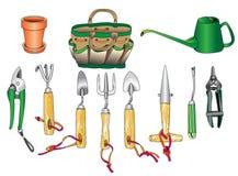 Jogo de ferramentas de jardinagem 01 Foto de Stock Royalty Free