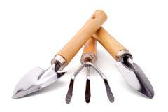 Jogo de ferramentas do jardineiro ou do florista Fotografia de Stock
