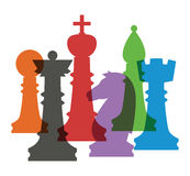 Jogo de figuras da xadrez Fotos de Stock Royalty Free