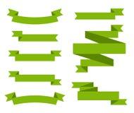Jogo de fitas coloridas Coleção das bandeiras e das fitas sobre o fundo branco Imagem de Stock