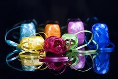 Jogo de fitas coloridas do presente Imagem de Stock