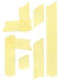 Jogo de fitas de máscara de papel amarelas Foto de Stock