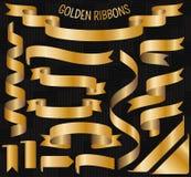 Jogo de fitas douradas ilustração royalty free