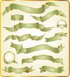 Jogo de fitas verdes. Fotos de Stock Royalty Free