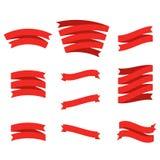 Jogo de fitas vermelhas ilustração royalty free