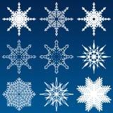 Jogo de flocos de neve do vetor Fotos de Stock Royalty Free