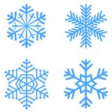 Jogo de flocos de neve do vetor Imagens de Stock Royalty Free