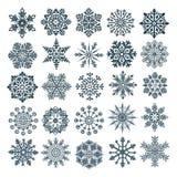 Jogo de flocos de neve do vetor fotografia de stock