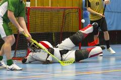 Jogo de Floorball Foto de Stock Royalty Free