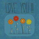 Jogo de flores coloridas mandala Imagens de Stock