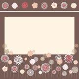 Jogo de flores decorativas Foto de Stock Royalty Free