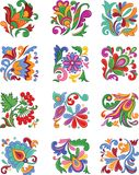 Jogo de flores decorativas Imagem de Stock