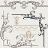 Jogo de Flourishes ornamentado Imagens de Stock Royalty Free