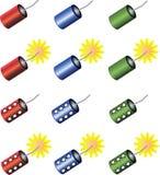 Jogo de foguetes coloridos Imagem de Stock Royalty Free