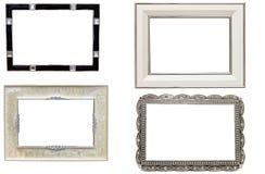 Jogo de frames antigos do retrato e da foto do metal Fotos de Stock Royalty Free