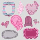 Jogo de frames bonitos do Doodle Foto de Stock