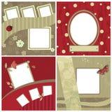 Jogo de frames bonitos para scrapbooking Imagem de Stock Royalty Free