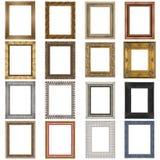 Jogo de frames de madeira Imagens de Stock Royalty Free