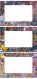 Jogo de frames de retrato coloridos do respingo da água Foto de Stock