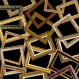 Jogo de frames de retrato do ouro foto de stock