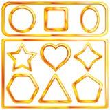 Jogo de frames de um ouro Foto de Stock Royalty Free