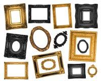 Jogo de frames decorativos bonitos Imagens de Stock