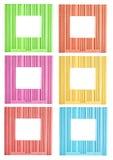 Jogo de frames decorativos coloridos Fotografia de Stock