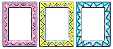 Jogo de frames decorativos engraçados ilustração royalty free